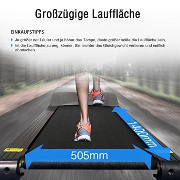 Fitifito FT850 Profi Laufband 7PS 22km/h, Dämpfungssystem, 5 Trainingsmodulen inkl. HRC - Klappbar, Tablethalter, Schwarz - 7