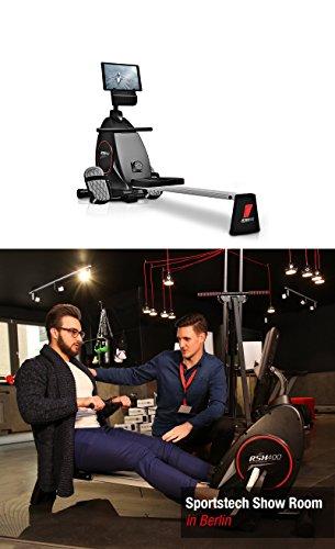 Sportstech Rudergerät RSX400 mit Smartphone APP, Pulsgurt inkl. - Rudermaschine für Ihr Zuhause, klappbar mit 8fach einstellbarem Magnetwiderstand und kugelgelagertem Sitz - 2