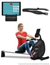 Sportstech Rudergerät RSX400 mit Smartphone APP, Pulsgurt inkl. - Rudermaschine für Ihr Zuhause, klappbar mit 8fach einstellbarem Magnetwiderstand und kugelgelagertem Sitz - 1