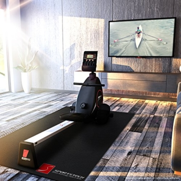 Sportstech Rudergerät RSX400 mit Smartphone APP, Pulsgurt inkl. - Rudermaschine für Ihr Zuhause, klappbar mit 8fach einstellbarem Magnetwiderstand und kugelgelagertem Sitz - 3