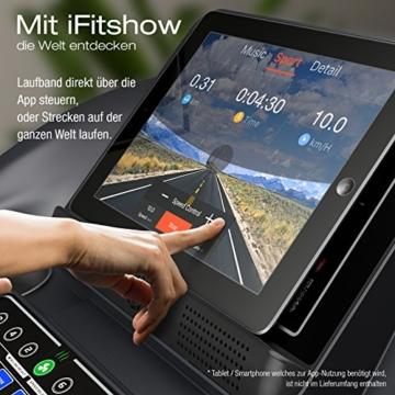 Sportstech TESTSIEGER F37 Profi Laufband bis 20 km/h, Selbstschmiersystem, Smartphone Fitness App, 15% Steigung, Bluetooth USB MP3, große Lauffläche mit Dämpfungssystem bis 130 Kg - klappbar - 4