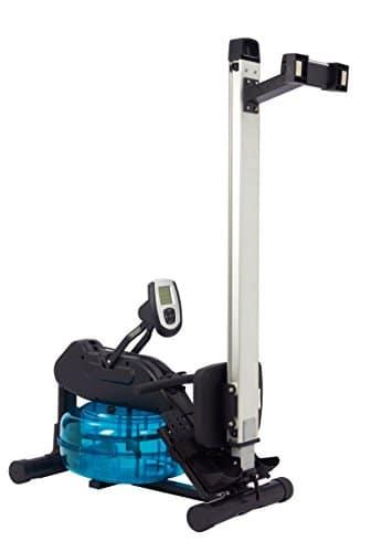 Wasser-Rudergerät BODY SCULPTURE ROWER BR5000, Ruderzugmaschine mit regulierbarem Wasserwiderstand, klappbares Wasserrudergerät mit Computer und Empfänger für Brustgurte, bis 136 kg - 2