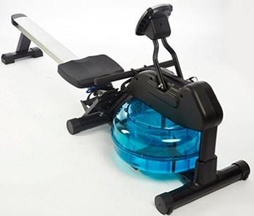 Wasser-Rudergerät BODY SCULPTURE ROWER BR5000, Ruderzugmaschine mit regulierbarem Wasserwiderstand, klappbares Wasserrudergerät mit Computer und Empfänger für Brustgurte, bis 136 kg - 4