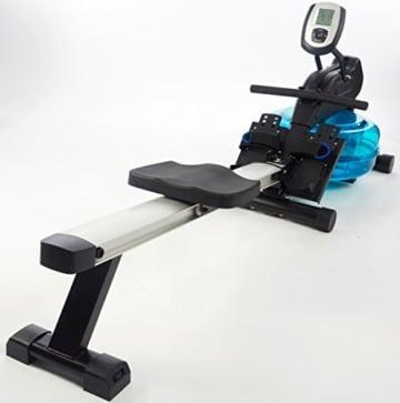 Wasser-Rudergerät BODY SCULPTURE ROWER BR5000, Ruderzugmaschine mit regulierbarem Wasserwiderstand, klappbares Wasserrudergerät mit Computer und Empfänger für Brustgurte, bis 136 kg - 6