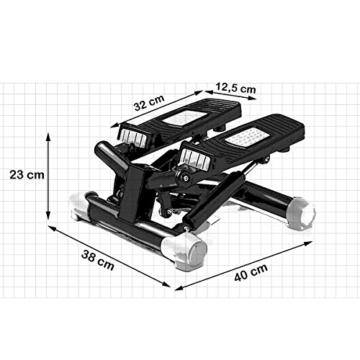 FitKraft Twister FTKTSTEPSWIII Swing Stepper Drehstepper Sidestepper mit Computer und Expande Schwarz - 5
