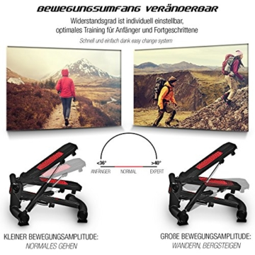 Sportstech 2in1 Twister Stepper mit Power Ropes – STX300 Drehstepper & Sidestepper für Anfänger & Fortgeschrittene, up-Down-Stepper mit Multifunktions-Display, Hometrainer Widerstand Einstellbar - 2