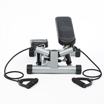 Ultrasport Swing Stepper inklusive Trainingsbändern/Hometrainer Stepper mit verstellbarem Widerstand und kabellosem Trainingscomputer – Up-Down-Stepper für Einsteiger und Trainierte, klein & kompakt - 3
