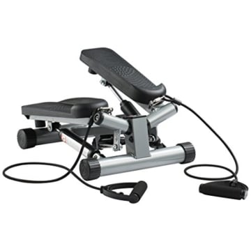 Ultrasport Swing Stepper inklusive Trainingsbändern/Hometrainer Stepper mit verstellbarem Widerstand und kabellosem Trainingscomputer – Up-Down-Stepper für Einsteiger und Trainierte, klein & kompakt - 1