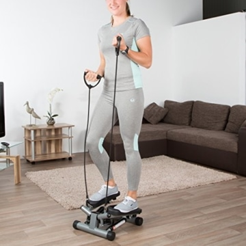Ultrasport Swing Stepper inklusive Trainingsbändern/Hometrainer Stepper mit verstellbarem Widerstand und kabellosem Trainingscomputer – Up-Down-Stepper für Einsteiger und Trainierte, klein & kompakt - 7