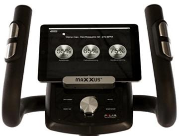 MAXXUS CROSSTRAINER CX 5.1 - Ellipsentrainer und kostenlosem Versand. Elliptischer Bewegungsablauf, Trainingsprogramme, HRC-Programme, Watt-Programm, Transportrollen, elektr. gesteuerte Magnetbremse, Smartphone-Tablet-Halterung, ergonomische Laufbewegung. - 8