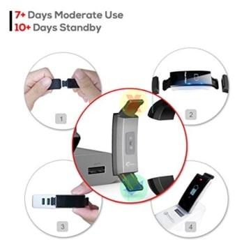 Fitness Armband Uhr mit Pulsmesser, LATEC Farbbildschirm Fitness Tracker Bluetooth Smart ArmbandUhr Wasserdicht IP68 Aktivitätstracker Schrittzähler Watch mit 14 Trainingsmodi Wetteranzeige Schlafmonitor Kalorienzähler Anruf SMS WhatsApp Facebook Twitter für iPhone Android Handy - 6