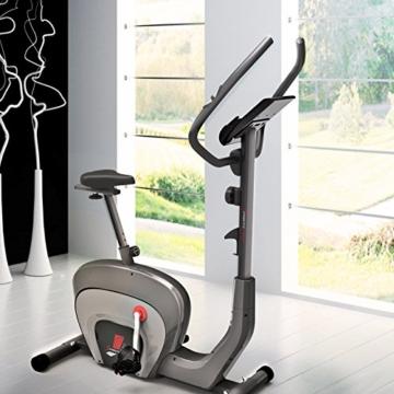 Sportstech ES400 Ergometer Heimtrainer - Smartphone App Steuerung - 10kg Schwungmasse - Bluetooth - Pulsmesser - Hometrainer mit Magnetbremssystem - Fahrrad-Trainer - Fitness-Bike - Tablethalterung - 4