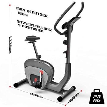 Sportstech ES400 Ergometer Heimtrainer - Smartphone App Steuerung - 10kg Schwungmasse - Bluetooth - Pulsmesser - Hometrainer mit Magnetbremssystem - Fahrrad-Trainer - Fitness-Bike - Tablethalterung - 7