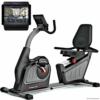 Sportstech ES600 Profi Ergometer mit APP Steuerung & integriertem Stromgenerator + Pulsgurt optional, HRC, optimaler ergonomischer Sitzkomfort - Liegeergometer Heimtrainer mit Rückenlehne - 1