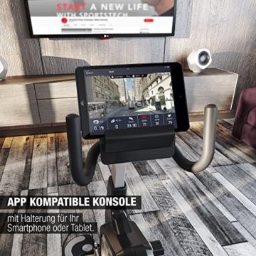Sportstech ES600 Profi Ergometer mit APP Steuerung & integriertem Stromgenerator + Pulsgurt optional, HRC, optimaler ergonomischer Sitzkomfort - Liegeergometer Heimtrainer mit Rückenlehne - 6