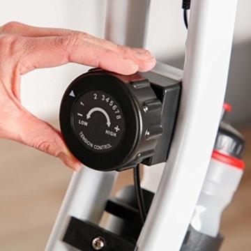 Ultrasport F-Bike Advanced Heimtrainer, Faltbares Fitnessbike mit Gelsattel, Flaschenhalter und Trinkflasche, Mint, OS - 4