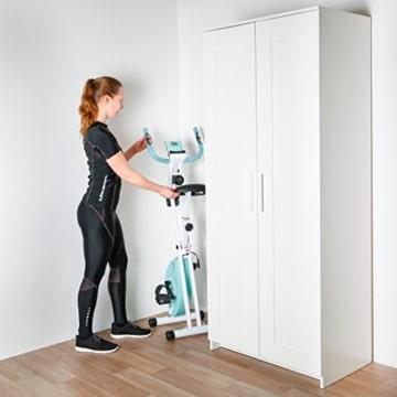Ultrasport F-Bike Advanced Heimtrainer, Faltbares Fitnessbike mit Gelsattel, Flaschenhalter und Trinkflasche, Mint, OS - 5