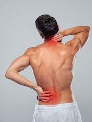 unterer und oberer Rücken schmerzen