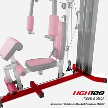 Sportstech Einzigartige 45in1 Premium Kraftstation HGX100/HGX200 für unzählige Trainingsvarianten Multifunktions-Homegym mit Stepper & LAT-Zugturm, Robuste Fitnessstation aus Eva Material für Zuhause - 9