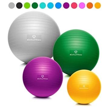 #DoYourFitness® Gymnastikball inkl. GRATIS Trainingsplan (PDF) & Luftpumpe | 55cm 65cm 75cm o. 85cm | 100% Berstsicher - 150kg Belastbarkeit - Robuster Sitzball, Bürostuhl, Fitnessball 85cm orange - 1