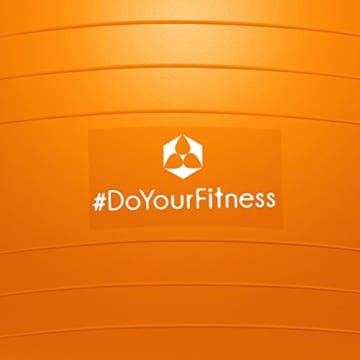 #DoYourFitness® Gymnastikball inkl. GRATIS Trainingsplan (PDF) & Luftpumpe | 55cm 65cm 75cm o. 85cm | 100% Berstsicher - 150kg Belastbarkeit - Robuster Sitzball, Bürostuhl, Fitnessball 85cm orange - 7