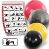 POWRX Gymnastikball DELUXE inkl. Pumpe & Workout I Sitzball, Anthrazit, Gr. 85 cm - 1