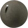 VLUV STOV Stoff-Sitzball SBV-002.65CAN, ergonomisches Sitzmöbel für Büro und Zuhause, Farbe: anthrazit (dunkelgrau), Ø 60cm - 65cm, hochwertiger Möbelbezugsstoff, robust und formstabil, mit Tragegriff - 1