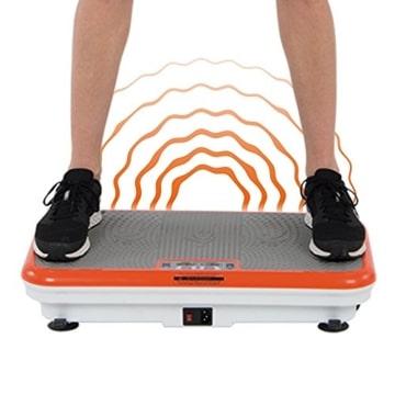 M MEDIASHOP Unisex-Adult Vibro Shaper Vibrationsplatte Ganzkörper Trainingsgerät Rutschfest, pink, 12 - 3