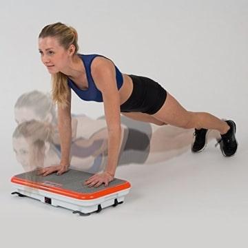 M MEDIASHOP Unisex-Adult Vibro Shaper Vibrationsplatte Ganzkörper Trainingsgerät Rutschfest, pink, 12 - 5