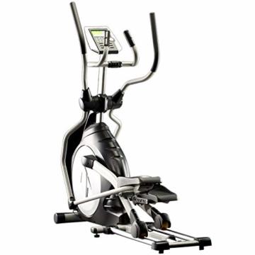 skandika Crosstrainer CardioCross Carbon Pro SF-3200, 23,5 kg Schwungmasse, wartungsarmes Bremssytem über Magnettechnologie, Transportrollen, Kalorienverbrauch, Zeit und und Pulsmessung - 6