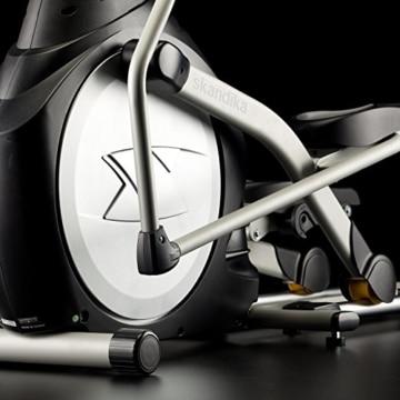 skandika Crosstrainer CardioCross Carbon Pro SF-3200, 23,5 kg Schwungmasse, wartungsarmes Bremssytem über Magnettechnologie, Transportrollen, Kalorienverbrauch, Zeit und und Pulsmessung - 8