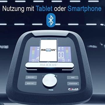 Crosstrainer MAXXUS CX 5.1 - Heimtrainer In Studioqualität, Bluetooth Steuerung Per Smartphone - 26 KG Schwungmasse Für Natürliche, Gelenkschonende Laufbewegung - Ellipsentrainer Mit 54cm Schrittlänge - 2