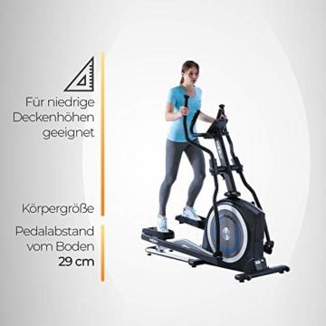 Crosstrainer MAXXUS CX 5.1 - Heimtrainer In Studioqualität, Bluetooth Steuerung Per Smartphone - 26 KG Schwungmasse Für Natürliche, Gelenkschonende Laufbewegung - Ellipsentrainer Mit 54cm Schrittlänge - 12