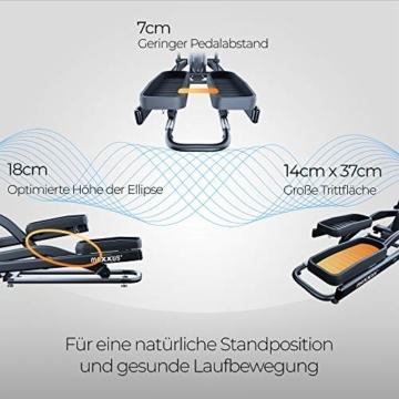 Crosstrainer MAXXUS CX 5.1 - Heimtrainer In Studioqualität, Bluetooth Steuerung Per Smartphone - 26 KG Schwungmasse Für Natürliche, Gelenkschonende Laufbewegung - Ellipsentrainer Mit 54cm Schrittlänge - 8