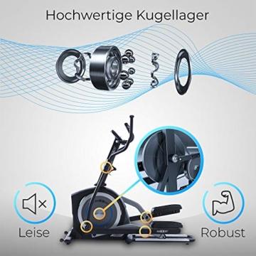 Crosstrainer MAXXUS CX 5.1 - Heimtrainer In Studioqualität, Bluetooth Steuerung Per Smartphone - 26 KG Schwungmasse Für Natürliche, Gelenkschonende Laufbewegung - Ellipsentrainer Mit 54cm Schrittlänge - 9