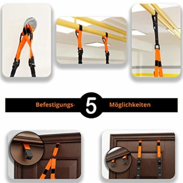 SYNOX Schlingentrainer; Sling Trainer mit Türanker für Fitness und Krafttraining mit beigefügter Kurzanleitung und Bonus Ebook - 3