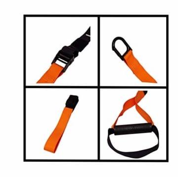 SYNOX Schlingentrainer; Sling Trainer mit Türanker für Fitness und Krafttraining mit beigefügter Kurzanleitung und Bonus Ebook - 4