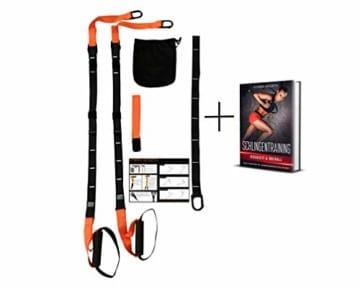 SYNOX Schlingentrainer; Sling Trainer mit Türanker für Fitness und Krafttraining mit beigefügter Kurzanleitung und Bonus Ebook - 1