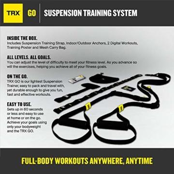 TRX Training – GO Suspension Trainer-Kit, Der leichteste und kleinste Suspension Trainer – Perfekt geeignet für unterwegs und für das Training im Innen- und Außenbereich (Schwarz) - 2