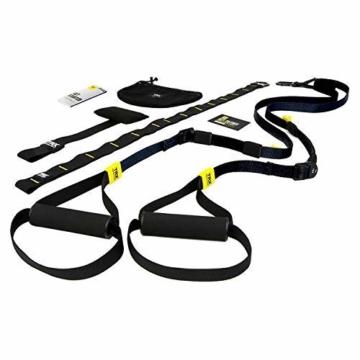 TRX Training – GO Suspension Trainer-Kit, Der leichteste und kleinste Suspension Trainer – Perfekt geeignet für unterwegs und für das Training im Innen- und Außenbereich (Schwarz) - 1