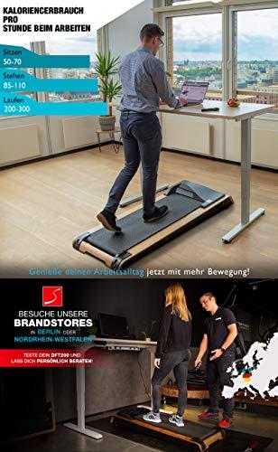 DESKFIT DFT200 Laufband für/unter Schreibtisch - fit und gesund im Büro & zu Hause. Bewegen und ergonomisches Arbeiten, Keine Rückenschmerzen - mit praktischer Tablet-Halterung, Fernbedienung und App - 2