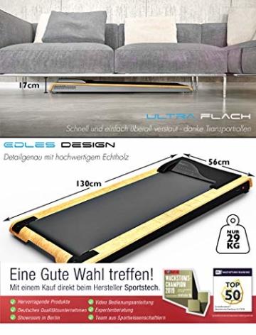 DESKFIT DFT200 Laufband für/unter Schreibtisch - fit und gesund im Büro & zu Hause. Bewegen und ergonomisches Arbeiten, Keine Rückenschmerzen - mit praktischer Tablet-Halterung, Fernbedienung und App - 3