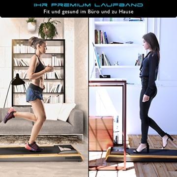 DESKFIT DFT200 Laufband für/unter Schreibtisch - fit und gesund im Büro & zu Hause. Bewegen und ergonomisches Arbeiten, Keine Rückenschmerzen - mit praktischer Tablet-Halterung, Fernbedienung und App - 4