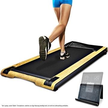 DESKFIT DFT200 Laufband für/unter Schreibtisch - fit und gesund im Büro & zu Hause. Bewegen und ergonomisches Arbeiten, Keine Rückenschmerzen - mit praktischer Tablet-Halterung, Fernbedienung und App - 1