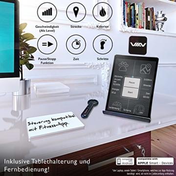 DESKFIT DFT200 Laufband für/unter Schreibtisch - fit und gesund im Büro & zu Hause. Bewegen und ergonomisches Arbeiten, Keine Rückenschmerzen - mit praktischer Tablet-Halterung, Fernbedienung und App - 6