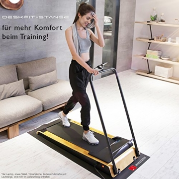 DESKFIT DFT200 Laufband für/unter Schreibtisch - fit und gesund im Büro & zu Hause. Bewegen und ergonomisches Arbeiten, Keine Rückenschmerzen - mit praktischer Tablet-Halterung, Fernbedienung und App - 7