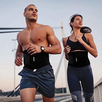 Bracoo Taillen & Bauch Trimmer - Damen & Herren - Hot Belt - Waist Trimmer | Schnell & Einfach Abnehmen mit dem Neopren-Bauchgürtel | SE20 - 4