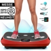Messe-Neuheit 2019! 4D Vibrationsplatte VP400 mit einmaligen Curved Design, Color Touch Display, Riesige Fläche, Smart LED Technologie inkl. Remote-Watch, Trainingsbänder & Übungsposter & Schutzmatte - 1