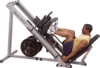 BODY-SOLID 3in1 Beintrainer Beinpresse 45° - Hackenschmidt Wadentrainer Leg Press Hack Squat - 1