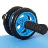 SONGMICS Bauchroller, AB Roller Bauchtrainer, AB Wheel für Fitness, mit rutschfester, gut gepolsterter Kniematte, Bauchmuskeltraining und Muskelaufbau, für Frauen und Männer, blau SPU75P - 1